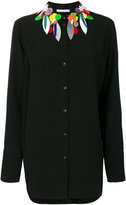 Christopher Kane embellished collar shirt