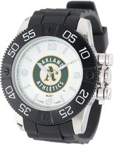 Game Time Men's MLB-BEA-OAK Beast Oakland Athletics Round Analog Watch