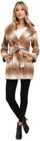 Jessica Simpson Brushed Wool Wrap Coat