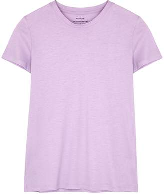 Vince Essential Lilac Cotton T-shirt