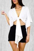 Ajoy Levora White Kimono Top