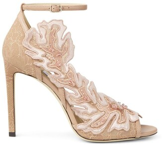 Jimmy Choo Lucele 100 Lace Applique Sandals