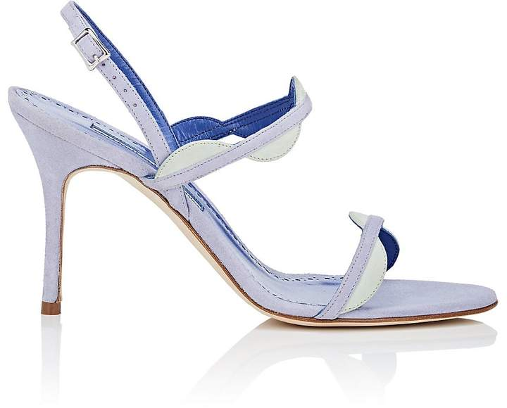 Manolo Blahnik Women's Katana Suede Sandals
