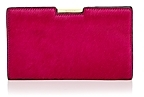 Milly Frame Small Calf Hair Clutch