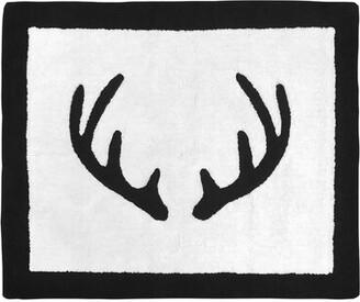 Sweet Jojo Designs Woodland Camo Cotton White/Black Area Rug