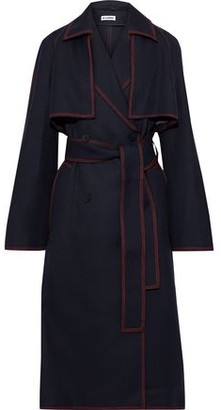Jil Sander Belted Wool-gabardine Trench Coat