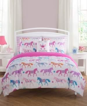 Sanders Unicorn Parade Full 7 Piece Comforter Set Bedding