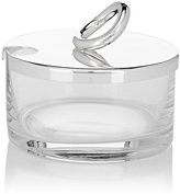 Christofle Vertigo Glass & Silverplate Cheese & Jam Dish-SILVER