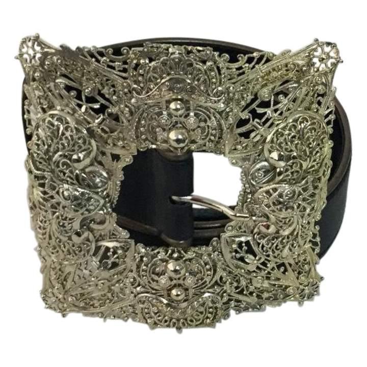 Gianfranco Ferre Black Leather Belt