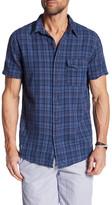 Save Khaki Plaid Short Sleeve Classic Fit Shirt