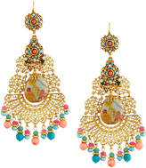 Jose & Maria Barrera Floral Filigree Découpage Chandelier Earrings, Pastel Multi