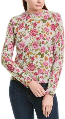 Minnie Rose Printed Cashmere Sweater