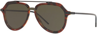 Dolce & Gabbana Men's Acetate Aviator Sunglasses