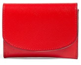 Nordstrom Women's Leather Card Case - Red