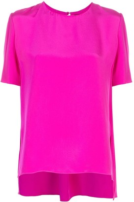 Adam Lippes Short-Sleeved Crepe Top