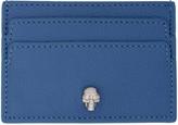 Alexander McQueen Blue Skull Card Holder