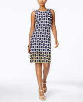 Charter Club Petite Chain-Print Sheath Dress, Created for Macy's