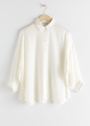 And other stories Lyocell Blend Button Up Shirt