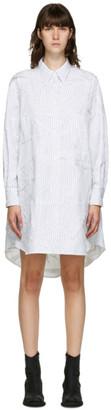 MM6 MAISON MARGIELA White Crushed Poplin Shirt Dress