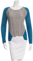 Helmut Lang Colorblock Scoop Neck Sweater