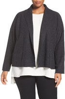 Eileen Fisher Plus Size Women's Lightweight Boiled Wool Jacket