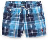 Ralph Lauren Childrenswear Plaid Traveler Swim Trunks
