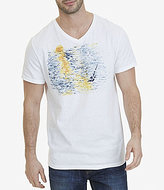 Nautica Sunset Graphic V-Neck Short-Sleeve Tee
