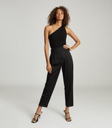 Thumbnail for your product : Reiss Thea - Twist-detail One-shoulder Top in Black