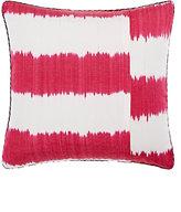 "Madeline Weinrib Stripe Ikat"" Pillow-PINK"