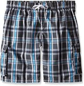 Kanu Surf Men's Big Paradigm Extended Size Plaid Swim Trunks