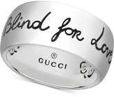 Gucci Women's Blind for Love Sterling Silver Engraved Ring YBC455248001014
