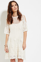 Forever 21 FOREVER 21+ Raga Embroidered Mesh Tunic