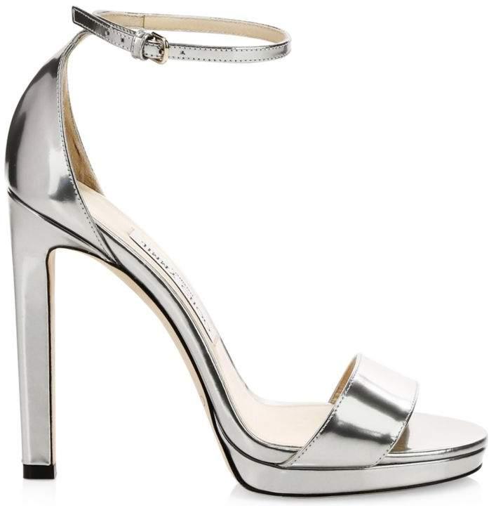 31e9cb45286e5 Silver Strap Heel - ShopStyle UK