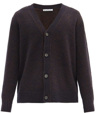 Acne Studios Kabelo Rib-knitted Wool-blend Cardigan - Navy