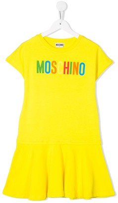 MOSCHINO BAMBINO TEEN flared skirt T-shirt dress