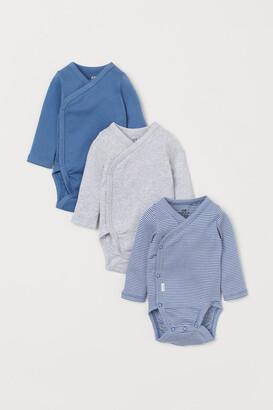 H&M 3-Pack Long-Sleeved Bodysuits