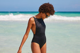 aerie Real Soft® Hi-Neck One Piece Swimsuit