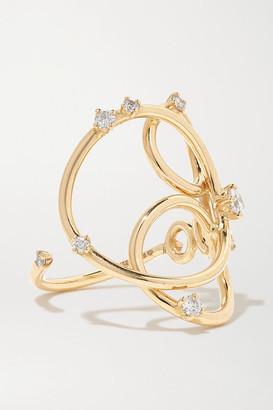 Fernando Jorge Juggler 18-karat Gold Diamond Ring - 6 1/2
