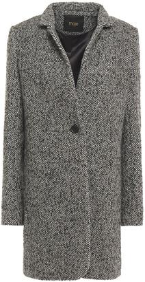 Maje Herringbone Wool-blend Coat