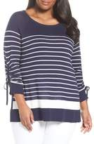 Sejour Drawstring Sleeve Sweater