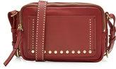 Isabel Marant Leather Shoulder Bag with Stud Embellishment