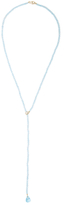 Janis Savitt 18K Yellow Gold, 0.16 Total Ct. Diamond & London Blue Topaz Lariat Necklace