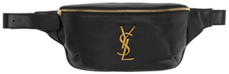 Saint Laurent Black Classic Monogram Belt Bag