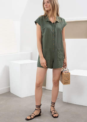 And other stories Linen Blend Relaxed Fit Romper