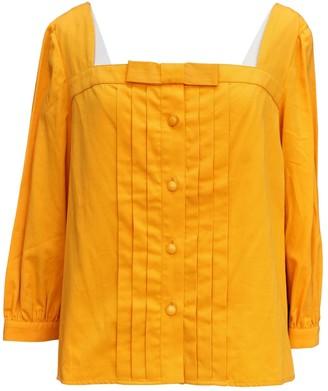 Jean Patou Yellow Cotton Top for Women Vintage
