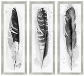 Pottery Barn Ink Wash Feather Framed Print
