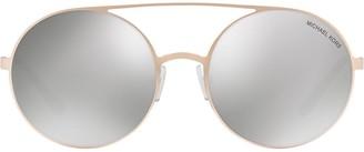 Michael Kors round mirrored sunglasses