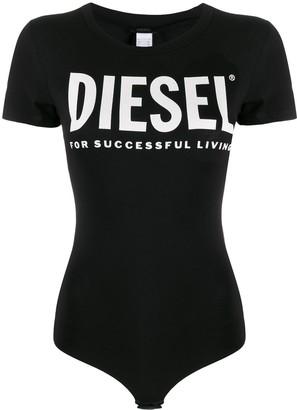 Diesel logo print bodysuit