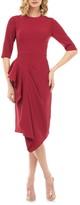 Kay Unger Mason Ruffle Sheath Dress