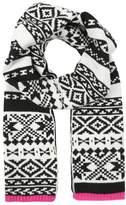 Gap Scarf black printed fairisle